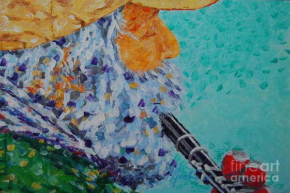 People Art Print featuring the painting Vision The Music by Art Mantia