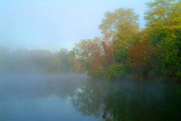 Fog Art Print featuring the photograph 091809-54 by Mike Davis
