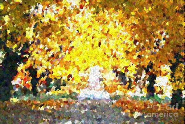 Abstract Art Print featuring the painting Autumn Path by Don Phillips