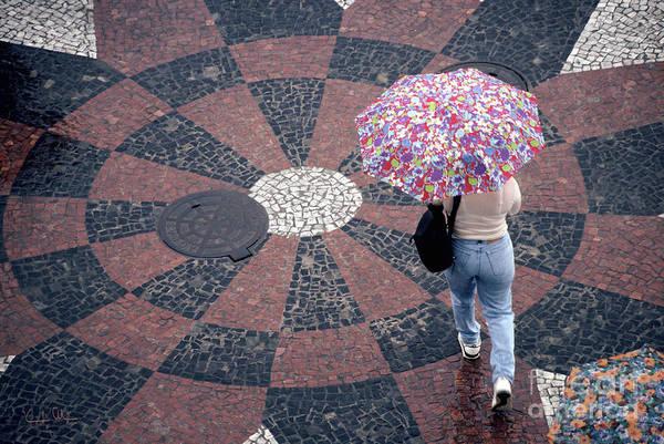 Rain Art Print featuring the photograph Florida - Umbrellas Series 1 by Carlos Alvim