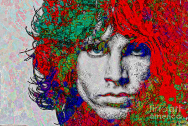 Music Art Print featuring the painting Morrison by ML Walker