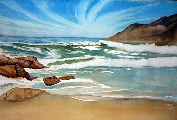 Rick Huotari Art Print featuring the painting Ocean Side by Rick Huotari