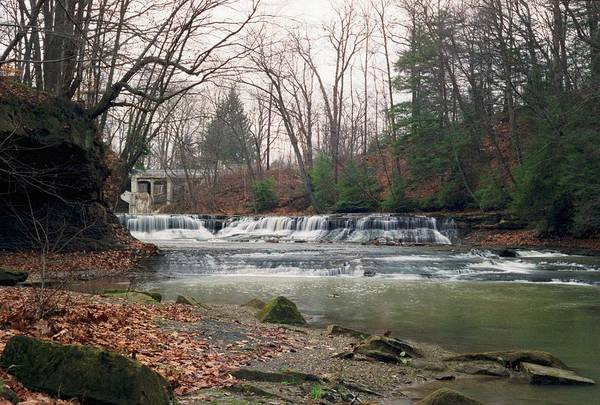 Waterfall Art Print featuring the photograph 092507-2 by Mike Davis