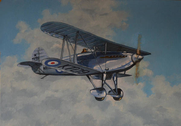 Airplanes Art Print featuring the painting Fury II Raf by Murray McLeod