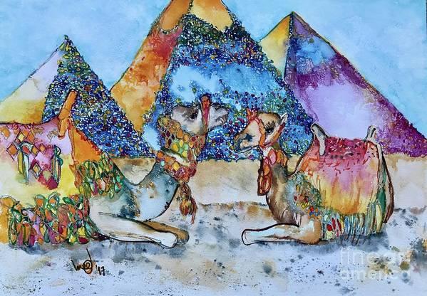 Purple Pyramid by Glen bleep Garnett