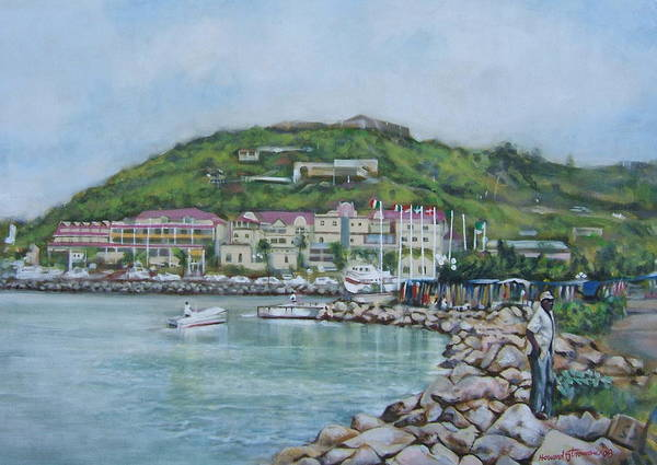 Island Art Print featuring the painting Isle At St Martin St Maarten by Howard Stroman