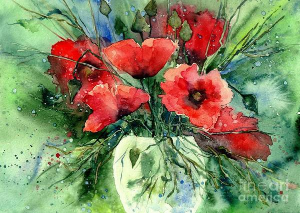 Everything About Poppies IV by Suzann Sines