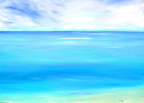 Caribbean Art Print featuring the painting Marine Marble by Sula Chance
