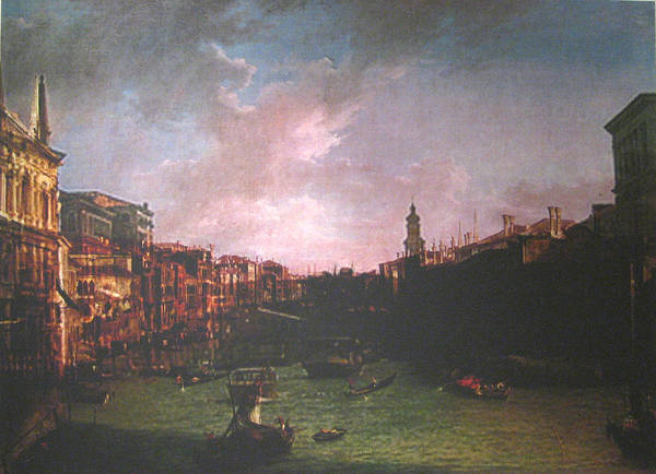 Landscape Art Print featuring the painting After Canal Grande Looking Northeast by Hyper - Canaletto