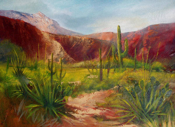 Landscape Art Print featuring the painting Arizona Beauty by Robert Carver