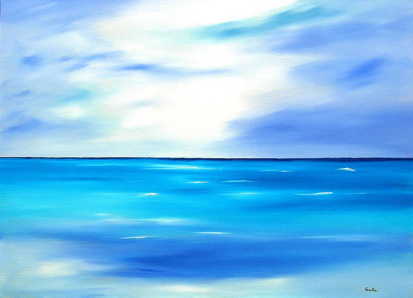 Caribbean Art Print featuring the painting Forever Azure by Sula Chance