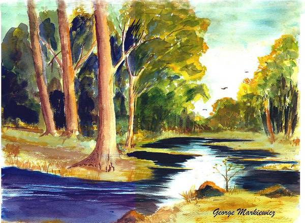 Landscape Art Print featuring the print Hidden Glade by George Markiewicz