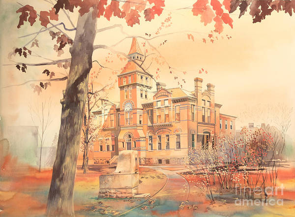 Linton Hall Art Print featuring the painting Msu Linton Hall by Robert Brent