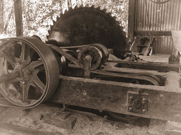 Old Sawmill Blade by Betty Depee