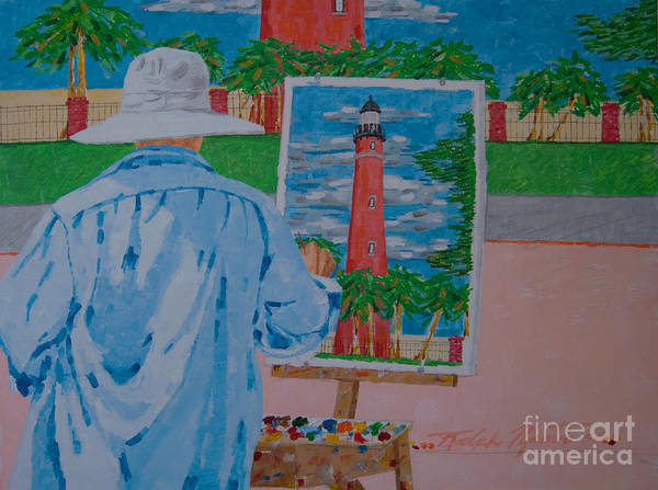 Landscapes Art Print featuring the painting Plein-air Painter by Art Mantia