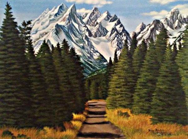 Landscape Art Print featuring the painting Road To Olympus by Doria Dieckmann