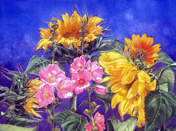 Floral Art Print featuring the print Sunseekers by Mary Backer