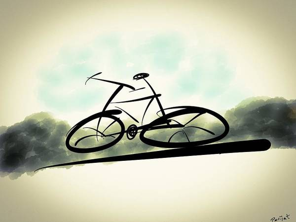 Cycle Art Print featuring the digital art The Cycle - A Sketch by Parijat Bhattacharjee