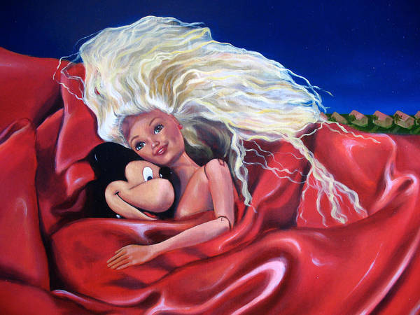 Nude Art Print featuring the painting An Impossible Love by Helene Fleury