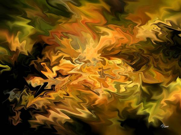 Abstract Art Print featuring the digital art Color Storm by Tom Romeo