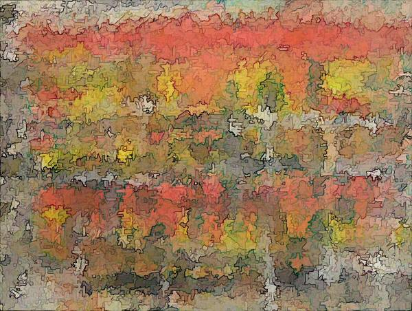 Expressionism Art Print featuring the painting Autumn Trees In New England by Don Phillips