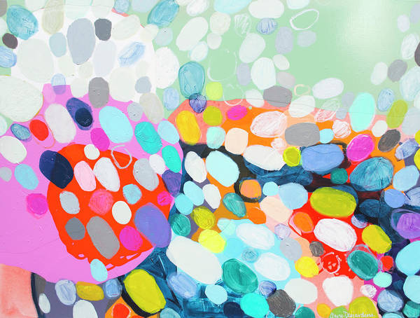 Abstract Art Print featuring the painting Flushed by Claire Desjardins