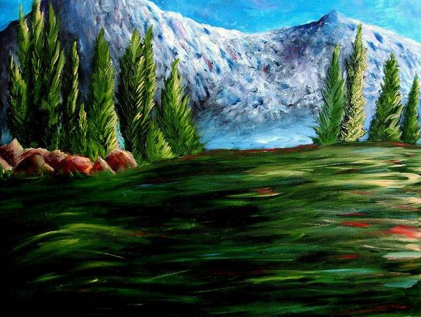 Landscape Art Print featuring the painting Western Mountains by Brandon Sharp