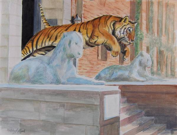 Priceton Tiger Art Print featuring the painting Princeton Tiger by Haldy Gifford