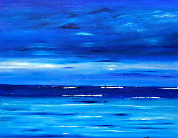 Caribbean Art Print featuring the painting Tranquil Tide by Sula Chance