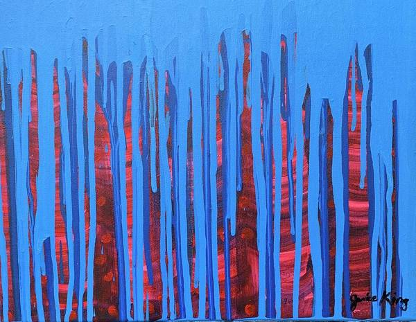 Abstract Art Print featuring the painting Night Life by Janice King