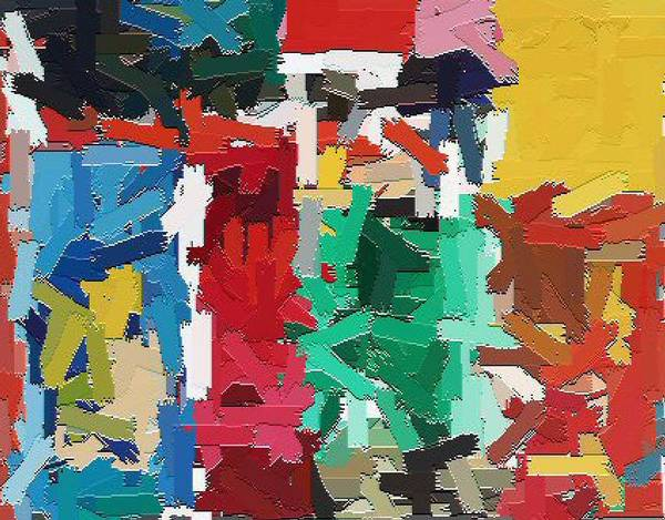 Abstract Art Print featuring the painting Cleaning The Palette by Don Phillips