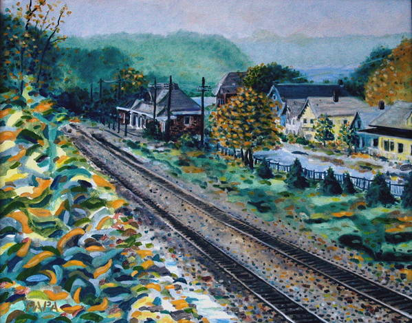 Garrison Art Print featuring the painting Garrison Station by Ralph Papa