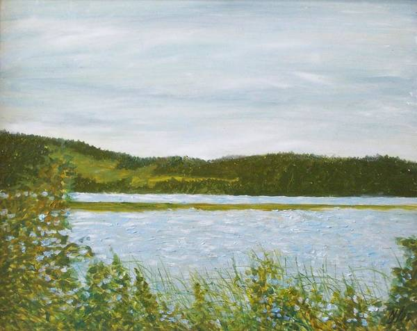 Lake Art Print featuring the painting Across The Belleisle by Norman F Jackson