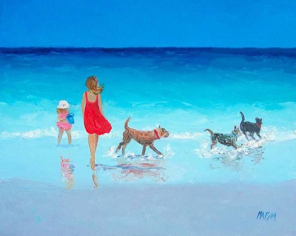 Beach painting - Summer's End by Jan Matson