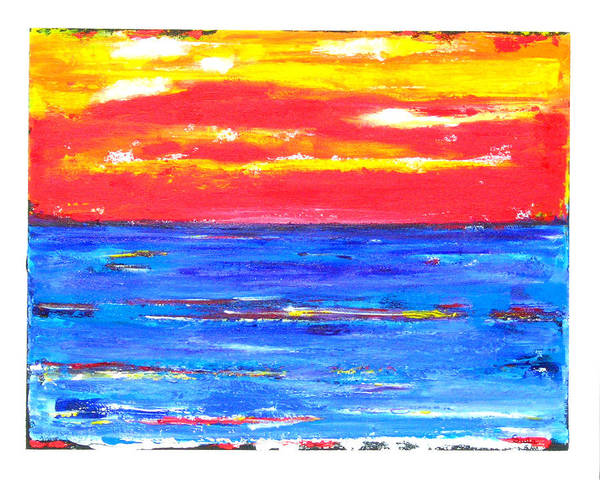 Caribbean Art Print featuring the painting Knife Sky by Sula Chance