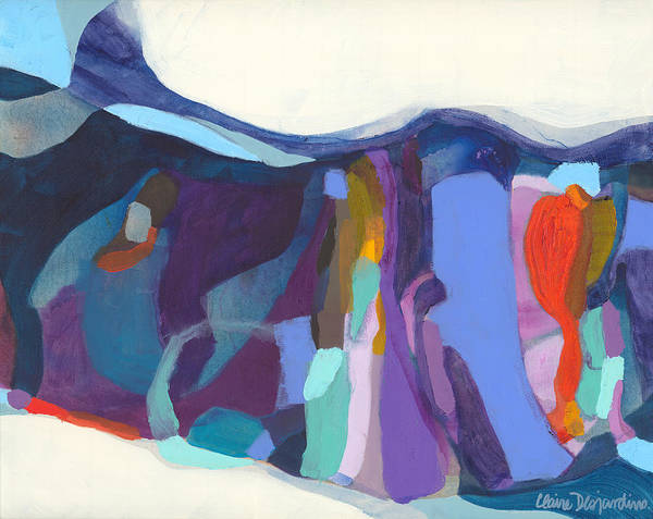 Abstract Art Print featuring the painting With Grace by Claire Desjardins