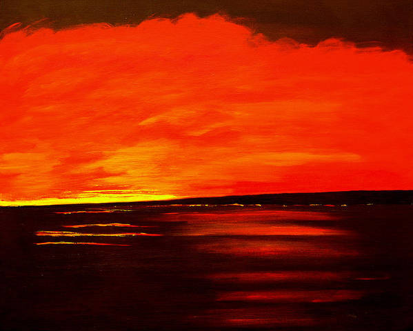 Caribbean Art Print featuring the painting Flame Calm by Sula Chance