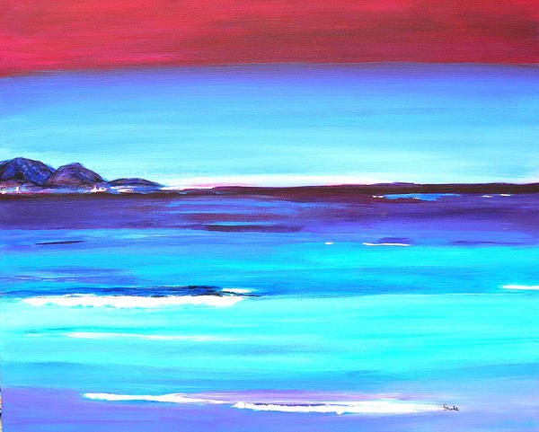 Caribbean Art Print featuring the painting Indigo Island by Sula Chance