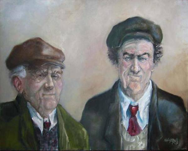 Portrait Figure Art Print featuring the painting Father And Son by Kevin McKrell