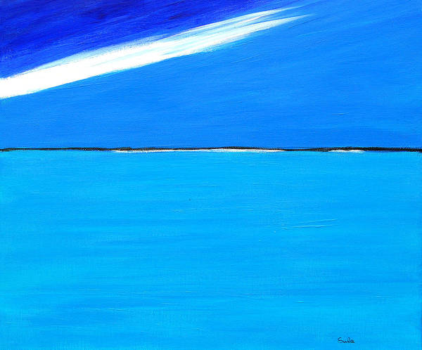 Caribbean Art Print featuring the painting Walk On Water by Sula Chance