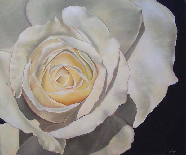 Floral Art Print featuring the painting Rosa by Helene Fleury