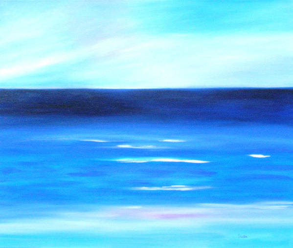 Caribbean Art Print featuring the painting Sea Calm by Sula Chance