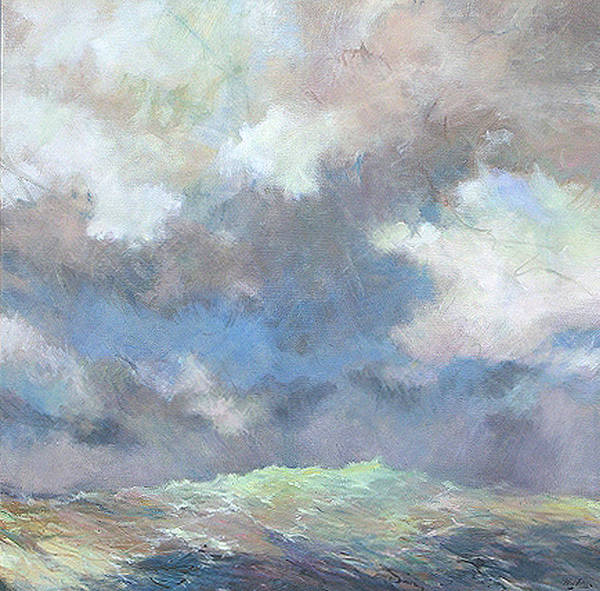 Seascape Art Print featuring the painting Sea Glow by Marilyn Muller