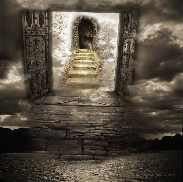 Surreal Art Print featuring the photograph Gateway To Heaven by Andy Frasheski
