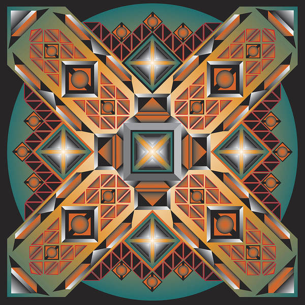 Optical Geometric Visual Digital Art Giclee Print Art Print featuring the digital art Sharp Optical Art K by James Sharp