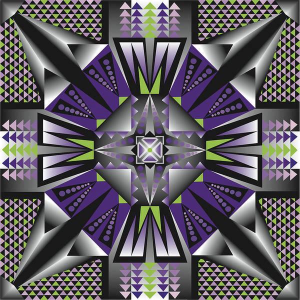 Optical Geometric Visual Digital Art Giclee Print Art Print featuring the digital art Sharp Tile Art D by James Sharp