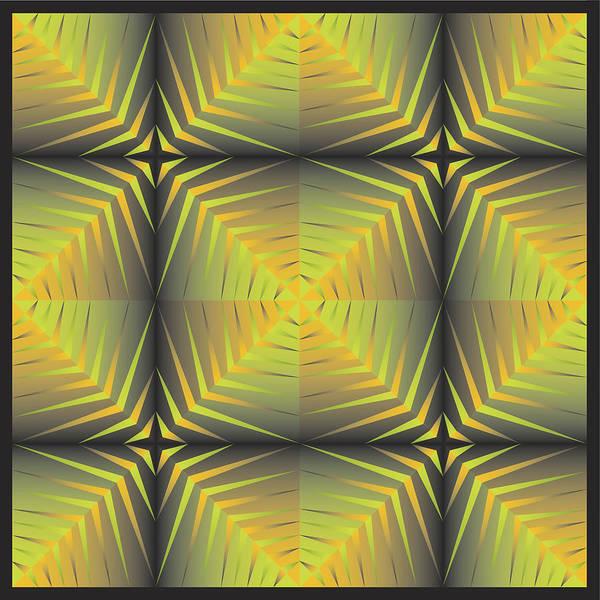 Optical Geometric Visual Digital Art Giclee Print Art Print featuring the digital art Star Burst's by James Sharp