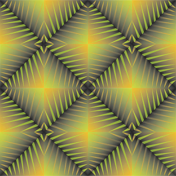 Optical Geometric Visual Digital Art Giclee Print Art Print featuring the digital art Star Burst's R by James Sharp
