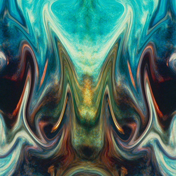 Abstract Art Print featuring the digital art Fire Birth by Tom Romeo