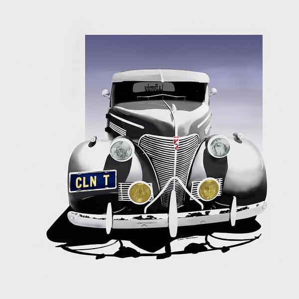 Chevrolet Art Print featuring the digital art La Bomba Lowrider by Motorvate Studio